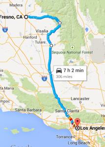 LA to Fresno