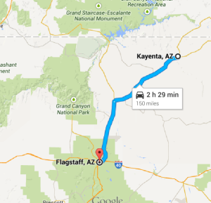 to flagstaff