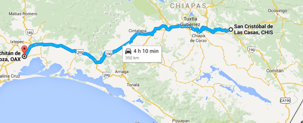 To San Cristobal